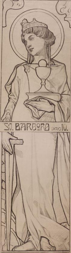 Karel Vítězslav Mašek - Study st-barbara