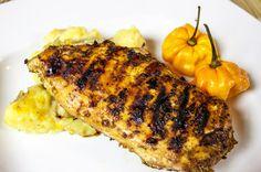 Jamaican Jerck Chicken at Pepper's Jerk Center, in Falmouth, Jamaica.