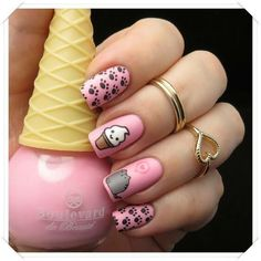 Having short nails is extremely practical. The problem is so many nail art and manicure designs that you'll find online Best Acrylic Nails, Matte Nails, My Nails, Nails For Kids, Girls Nails, Cute Nail Art, Nail Art Diy, Stylish Nails, Trendy Nails