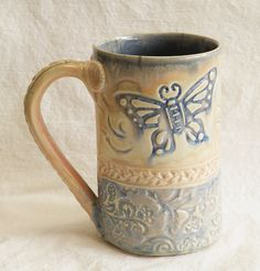 Hand built stoneware mug fired to over 2200 degrees
