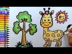 Menggambar Dan Mewarnai Anak Jerapah Mewarnai Dengan Crayon Youtube Gambar Simpel Jerapah Warna