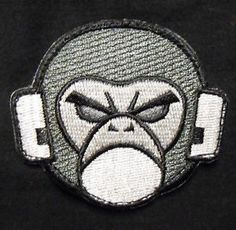 Angry Monkey Face Logo Tactical USA Combat Milspec Army Morale ...