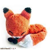 Knit Sleepy Fox Amigurumi - via @Craftsy