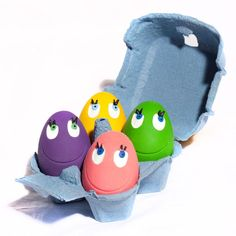 OVO the Egg Set of 4 Original Natural Rubber Egg Shaped Toy For Playtime & Pets Picture in Egg Box