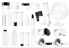 embalagens de cosméticos vector vazio