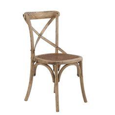 Silla con asiento de rejilla, madera de olmo   Medidas 51x53x87cm  Medidas asiento 45x42x46 cm  Iva incluido, gastos de envío gratis