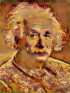 Albert Einstein | Created with Painnt app | Filter > Ocher. Painnt uses neural networks to generate gorgeous artwork from your Camera roll.