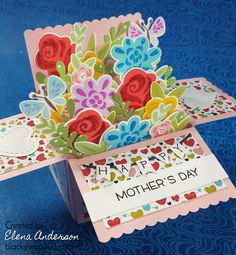 Image result for lawn fawn scalloped box card pop up Pop Up Greeting Cards, Pop Up Box Cards, 3d Cards, Card Boxes, Teacher Appreciation Cards, Lawn Fawn Stamps, Card Making Techniques, Mothers Day Cards, Flower Cards