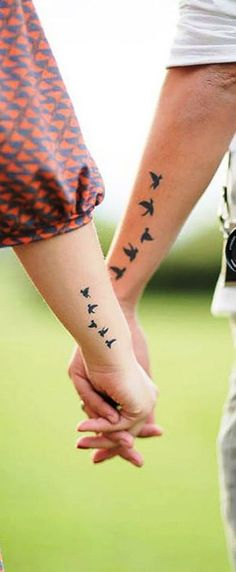 "55 Lovely Couple Tattoo Ideas To Show Their Love To The World of this design so here we had gathered some of the couple tattoo designs. Just check out Lovely Couple Tattoo Ideas To Show Their Love To The World"" Couple Tattoos Unique Meaningful, Couple Tattoos Love, Love Tattoos, New Tattoos, Unique Couples Tattoos, Couple Tattoo Ideas, Temporary Tattoos, Tatoos, Couples Tattoo Designs"