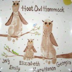 Owl foot print