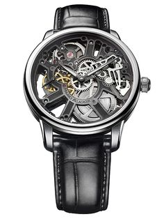 Maurice Lacroix MasterPiece Squelette Tradition Mechanical Skeleton Watch For Men Swiss Watchmakers Cool Watches, Watches For Men, Men's Watches, Fine Watches, Popular Watches, Wrist Watches, Unusual Watches, Dream Watches, Fashion Watches