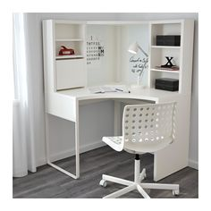 MICKE Corner workstation, white white 39 for dressing room desk in bedroom MICKE Corner workstation - white - IKEA Ikea Linnmon, Ikea Micke, Home Office Design, Home Office Decor, Home Decor, Office Style, Home Design, Corner Workstation, Ikea Desk