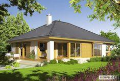 Eris II (wersja C) - projekt domu - Archipelag Raised Bed Garden Design, Bungalow House Plans, Home Design Plans, Design Case, Log Homes, House Rooms, Gazebo, Bali, Exterior