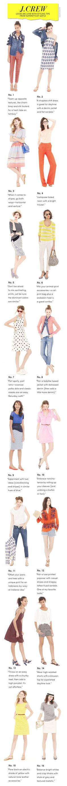 J.Crew Looks We Love May 2012 with Tips from Superstylist Gayle