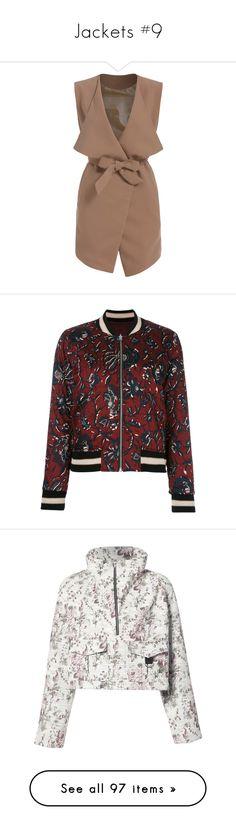 """""""Jackets #9"""" by andriana-aaa ❤ liked on Polyvore featuring outerwear, vests, jackets, coats, dresses, khaki, sleeveless vest, sleeveless waistcoat, brown waistcoat and vest waistcoat"""