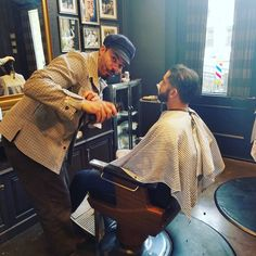 #infamous #masterbarber #mustachejim come check him out ! Long time barber in Minneapolis Jim has brought the past to life ! Jim is truly one of a kind , if you know this guy book it now @martyandmaxxs.com don't just like the picture . We are true to our trade and traditions. #minneapolisbarber #martysbarbershop #styledbyjoncharles #northloop #martinpatrick3