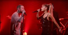 Watch Mac Miller, Ariana Grande Flirt Onstage Singing 'My Favorite Part' #headphones #music #headphones