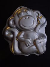 Wilton Cake Pan Treat Mold Birthday Monkey Zoo Animal Pet 2105-1023