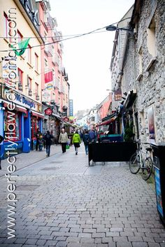 a street in Galway City, Ireland.