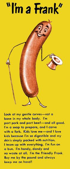 the gentle boneless curves of a hotdog