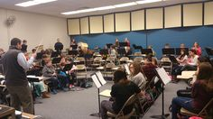 Warming up with the band this morning. These dedicated students show up well before schools begins to practice.