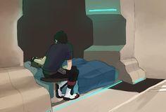 Sick Lance and comforting Keith