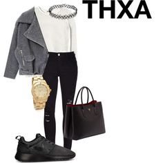 A bussy day in town by thxafash on Polyvore #work #ideas #fashion #thxa