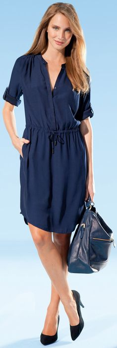 Knit Jersey Dresses: Travel Wear for Women Over 40, 50, 60 - la redoute prshots - CLICK TO READ at: http://boomerinas.com/2012/09/knit-jersey-dresses-travel-wear-for-women-over-40-or-50/