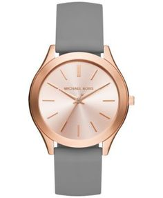 Michael Kors Women's Slim Runway Sporty Navy Silicone Strap Watch Only at Macy's - Watches - Jewelry & Watches - Macy's Michael Kors Jewelry, Michael Kors Watch, Macys Watches, Sporty Watch, Rose Gold Gifts, Jewelry Watches, Gold Watches, Luxury Watches, Bracelet Watch
