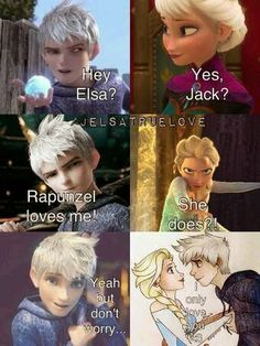 Yes Jelsa! I hate the idea of jackquenzel Jelsa, Jack Y Elsa, Jack Frost And Elsa, Disney Memes, Disney Quotes, Arte Disney, Disney Love, Disney Couples, Cute Couples