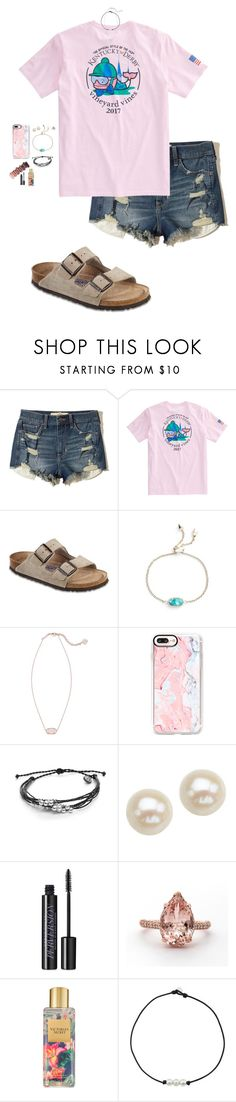 """""""i gotta come back and tell the greatest story they never told"""" by marleemorman ❤ liked on Polyvore featuring Hollister Co., Vineyard Vines, Birkenstock, Kendra Scott, Casetify, Pura Vida, Honora, Urban Decay and Victoria's Secret"""