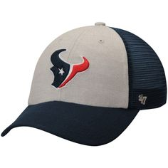 Houston Texans Belmont Clean Up Adjustable Hat - Gray Navy bdaee4265