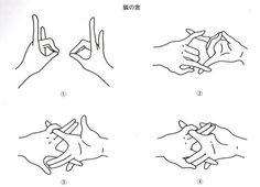 写真のように手を組む形を「狐の窓」といい、こんな風に手を組めば、狐の嫁入りが見れたり、人などに化けている妖怪の正体を見破る事ができる  だそうです