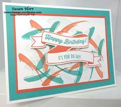 Painter's Palette, Birthday Banners, Banner For You, Stampin Up, susanstamps.wordpress.com