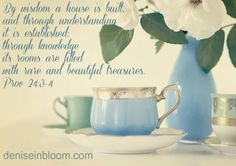 Proverbs By wisdom a house is built and through understanding it is established; through knowledge its rooms are filled with rare and beautiful treasures. Bible Verses Quotes, Encouragement Quotes, Bible Scriptures, Words Quotes, Proverbs 24, God's Heart, Bible Study Tools, Life Map, Daughters Of The King
