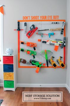 Ready, aim, tidy! 8 ways to store Nerf guns | Mum's Grapevine