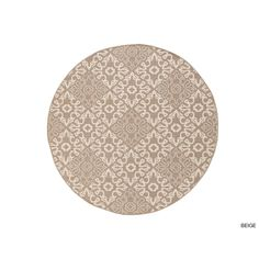Meticulously Woven Olivia Contemporary Geometric Indoor/Outdoor Area Rug (8'9 Round) (Beige-(8'9 Round)), Beige, Size 8'9 x 8'9
