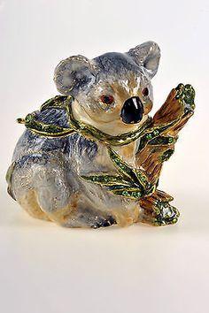 Koala Trinket Box by Keren Kopal Faberge Swarovski Crystal Box.