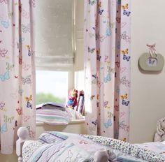 Roze Gordijn Vlinder | CRESTED.33.140 | Kindergordijnen | My baby ...