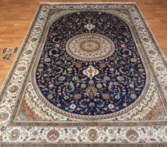 6'x9' Handmade Hand-knotted 200 kpsi Silk Oriental Persian Tabriz Rug 347
