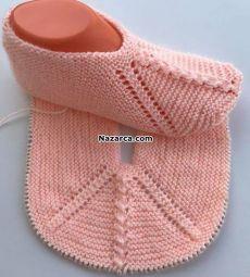 Two-cis-girl-input-army-of-intra-ball of foot , iki-sis-kiz-gordu-ordu-patigi , Oya Source by balikcir Crochet Bolero Pattern, Crochet Stitches Patterns, Baby Knitting Patterns, Knitting Stitches, Knitting Designs, Baby Patterns, Crochet Wool, Crochet Shoes, Crochet Baby