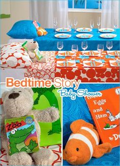Bedtime story baby shower... so cute!