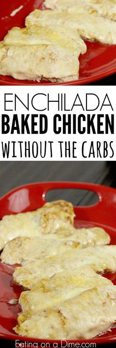 Low Carb Meals bakes enchilada chicken - Try this easy low carb recipe, Baked Enchilada Chicken. Enjoy all the flavor of chicken enchilada bake without the carbs. Try baked enchilada chicken today! Bariatric Recipes, Diabetic Recipes, Mexican Food Recipes, Low Carb Recipes, Cooking Recipes, Dinner Recipes, Budget Recipes, Healthy Recipes, Paleo Dinner