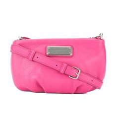 Marc Jacobs Bright Rosa Leather 'New Q Percy' Crossbody Bag (New with Tags)