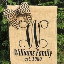 Monogrammed+Burlap+Garden+Flags+are+a+great+way+to+welcome+guest.+This+flag+with+matching+how+does+NOT+include+the+flag+stand.+  Upon+check+out,+please+provide+the+following: 1.+Monogram+Color+(see+pictures) 2.+Bow+or+no+matching+bow? 3.+Large+Initial 4.+Last+Name 5.+Established+Date