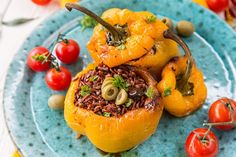 These stuffed bell peppers with wild rice have strong Mediterranean flavors packed together with an incredible amount of diverse nutrients.