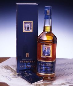Premiers. 15 years old. scotch whisky. Memento Linea