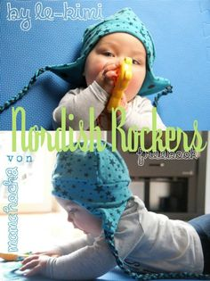"""Unser neues Freebook """"Nordish Rockers"""" ist eine dicke Wintermütze für Groß und Klein."""