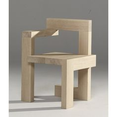 Steltman chair, 1963 — Gerrit Rietveld Réversible, pour gaucher ou droitier