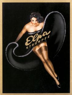 Stockings ad c. 1950 (via international poster)